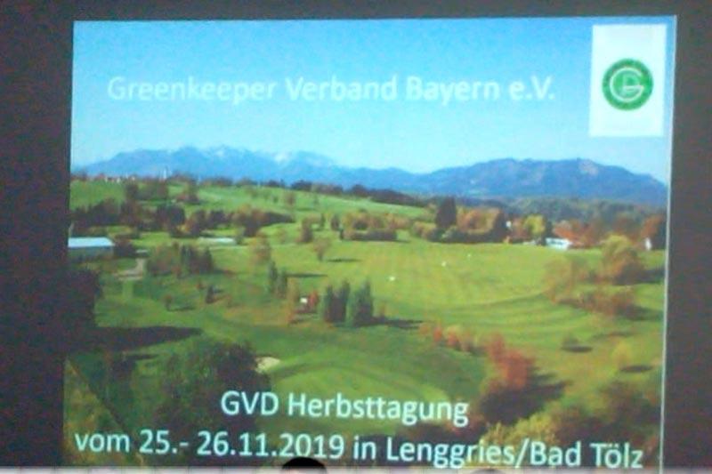Herbsttagung des Greenkeeper Verband Bayern e.V.